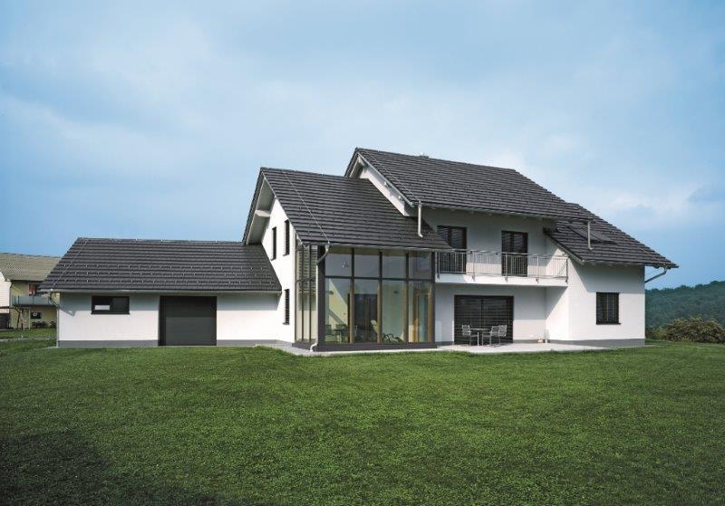 CREATON dach dwuspadowy dachówka płaska
