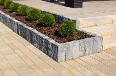 Gotowe bloczki do budowania murków, ogrodzeń w ogrodzie