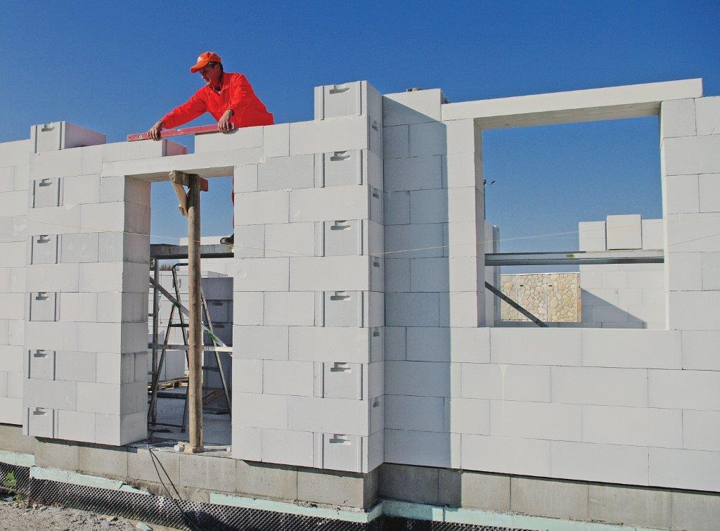 Ściany zewnętrzne z betonu komórkowego Termalica