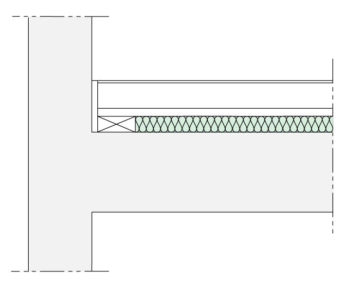 Schemat podłogi pływającej - rysunek Paroc