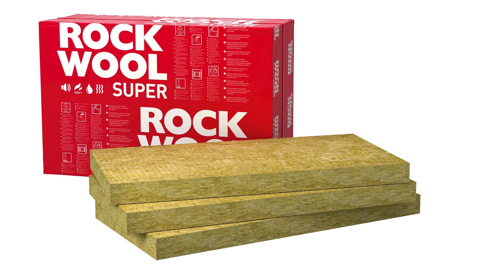 Płyty w wełny skalnej Superrock
