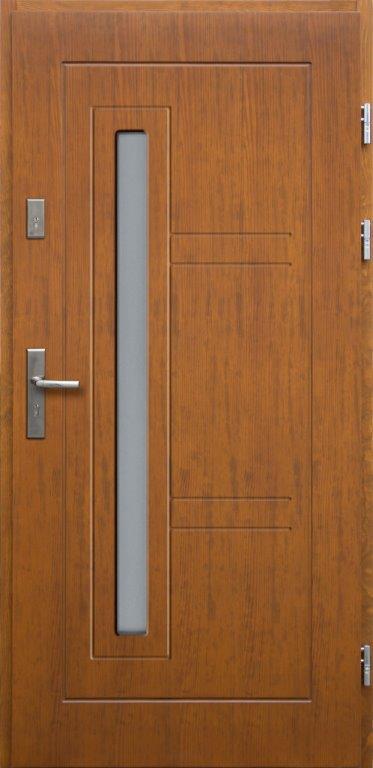 Drzwi wejściowe 4iQ Spartakus kolor dąb