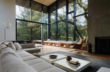 Pasywny dom z betonu, szkła, stali i aluminium