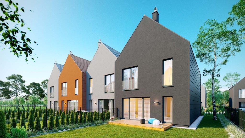 e4 Kampinoska to zespół domów w zabudowie szeregowej