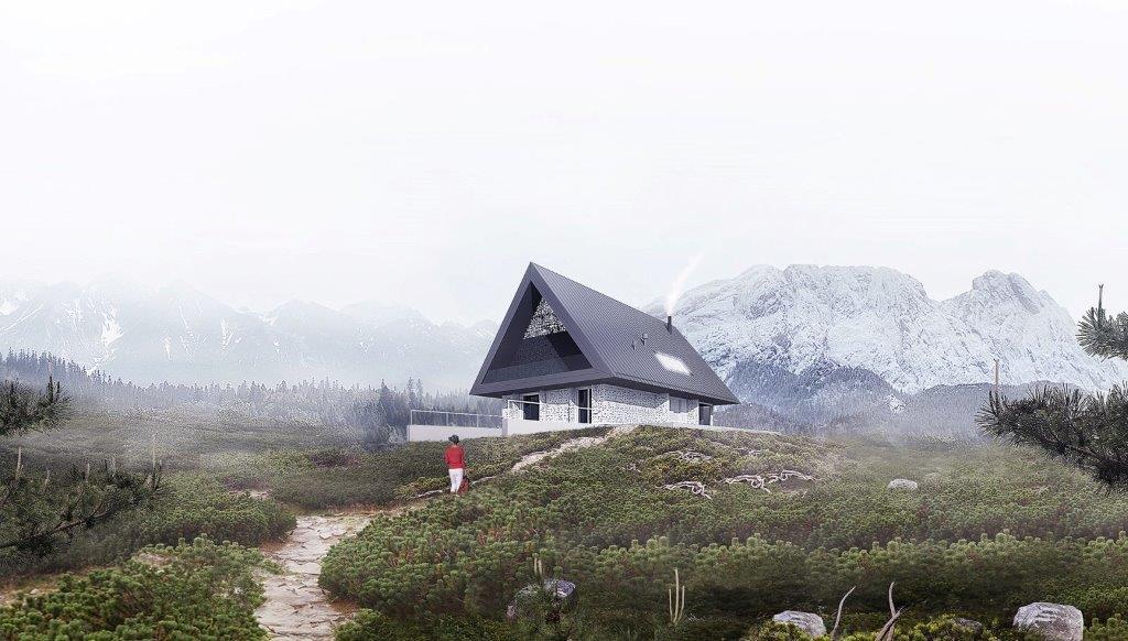 BXBstudio Dom pod Giewontem wtopiony w krajobraz