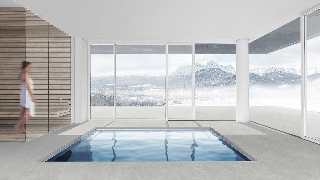 Dom z basenem - widok na Tatry