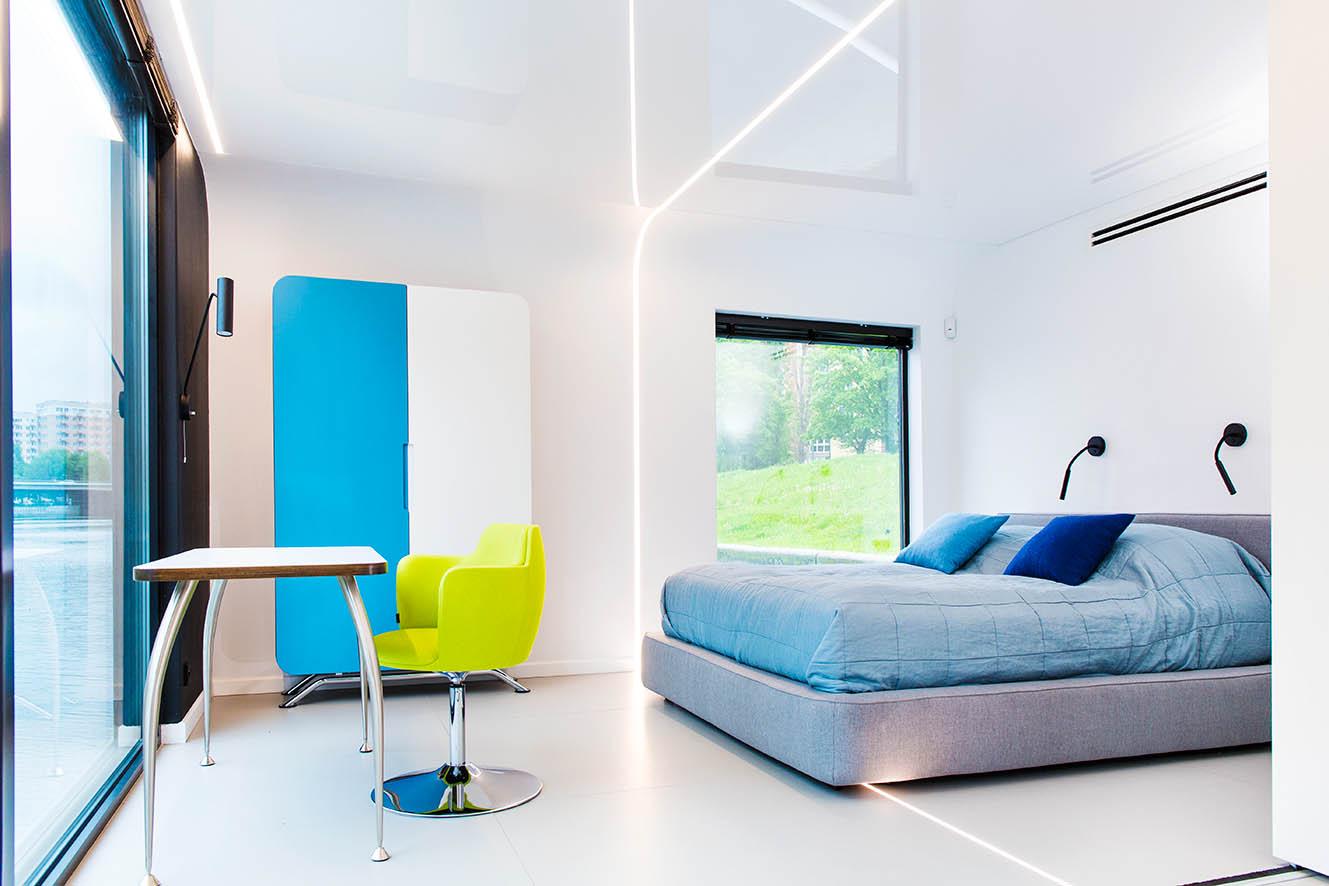 Sypialnia w FloHotel - Gdańsk