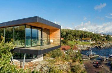 Dom z widokiem na fiordy