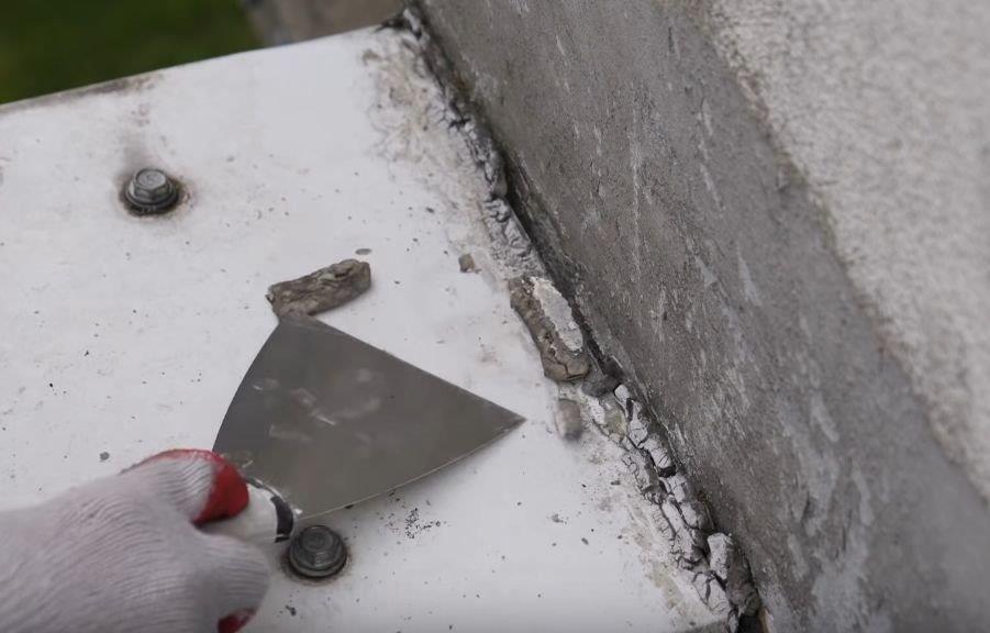 Nieszczelności w miejscach łączeń papy z murami - Ultrament
