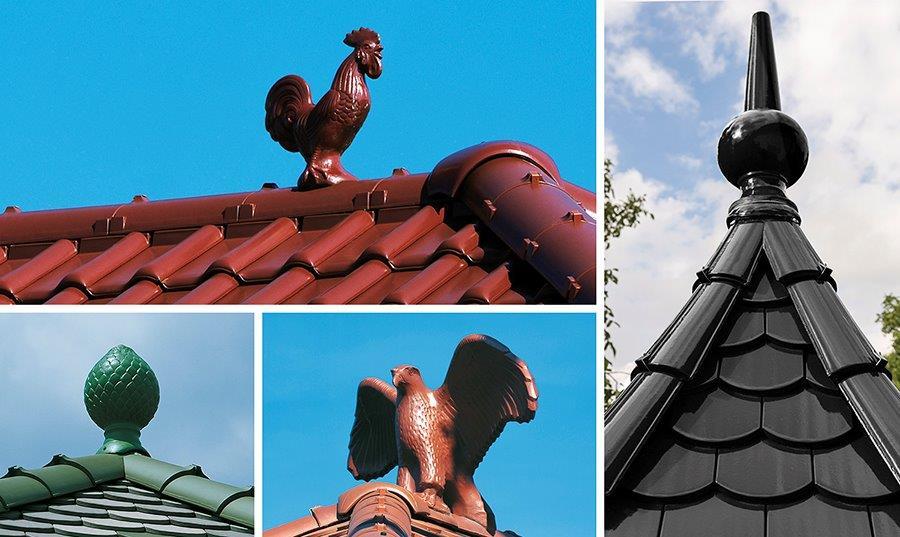 Ceramiczne ozdoby dachowe