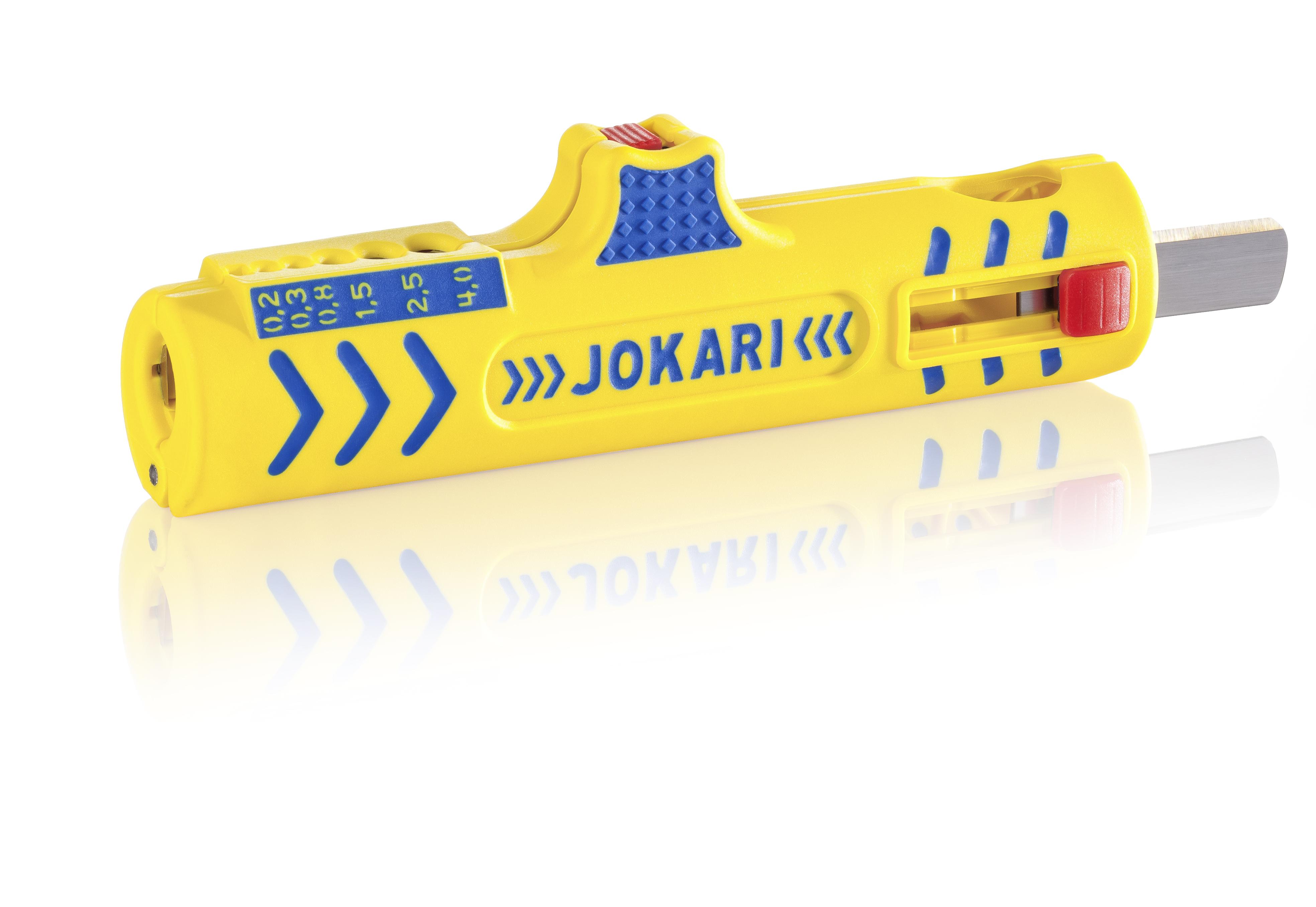 Ściągacz uniwersalny JOKARI dla wszystkich standardowych kabli izolowanych o okrągłym przekroju,