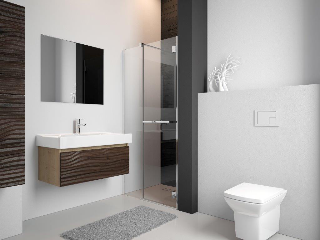 Drzwi kabinowe dopasowane do wnęki w łazience
