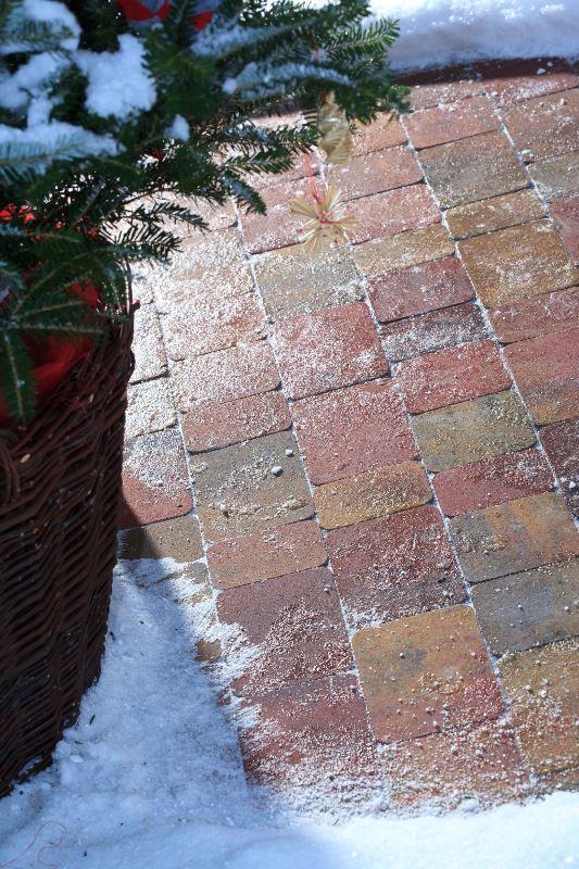 Nawierzchnia betonowa zimą fot. Polbruk