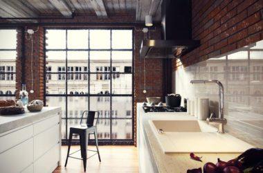 Kuchnia z industrialnym klimatem