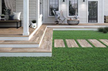 Płytki na taras i do ogrodu – doskonale imitują drewno i kamień