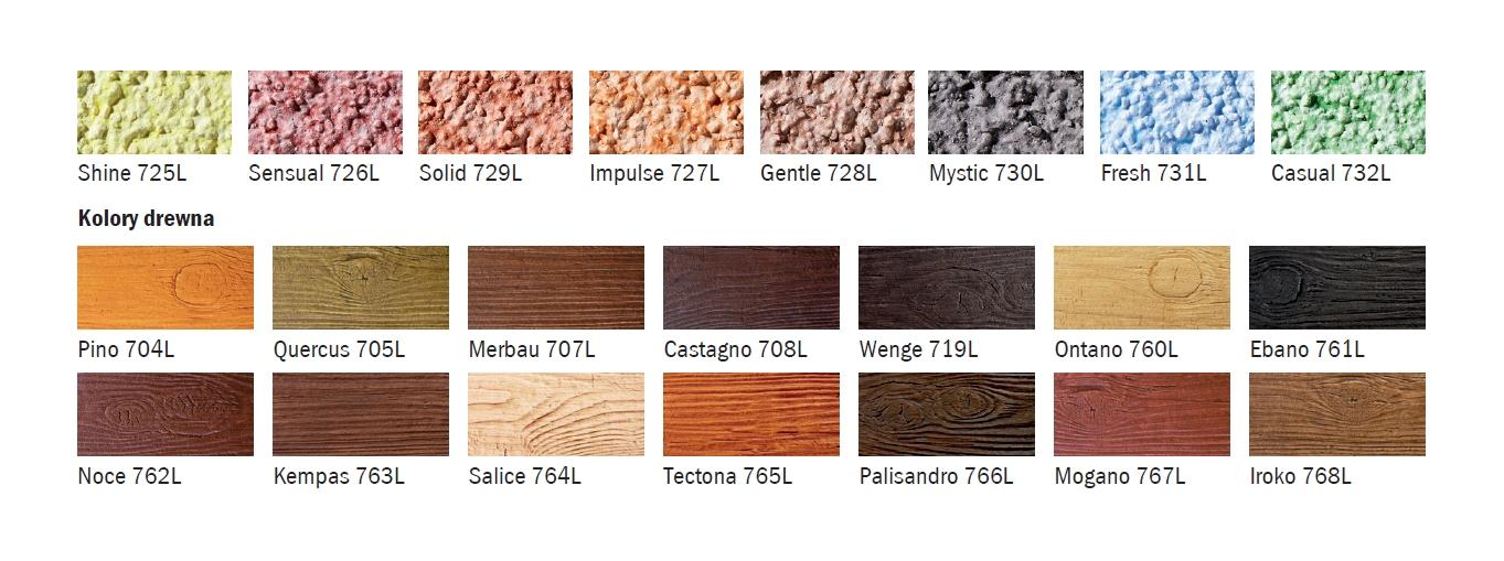 kolorystyka i wzory Baumit Lazur