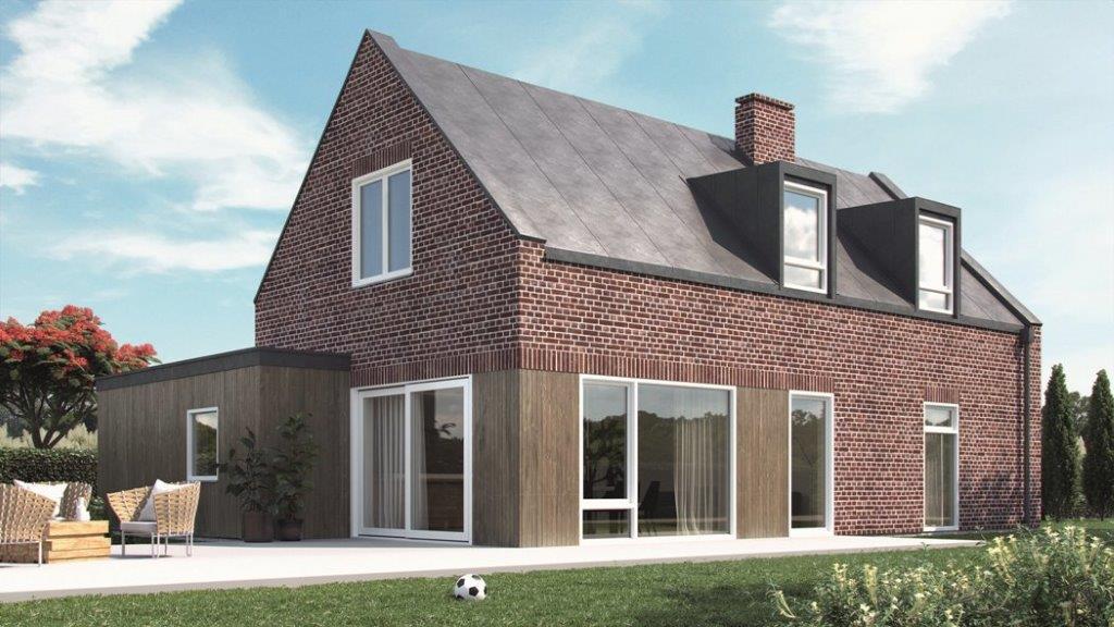 Dom holenderski z oknami Schuco