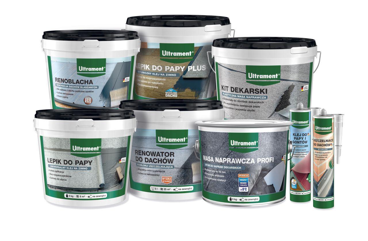 Produkty Ultrament do naprawy dachu z papy