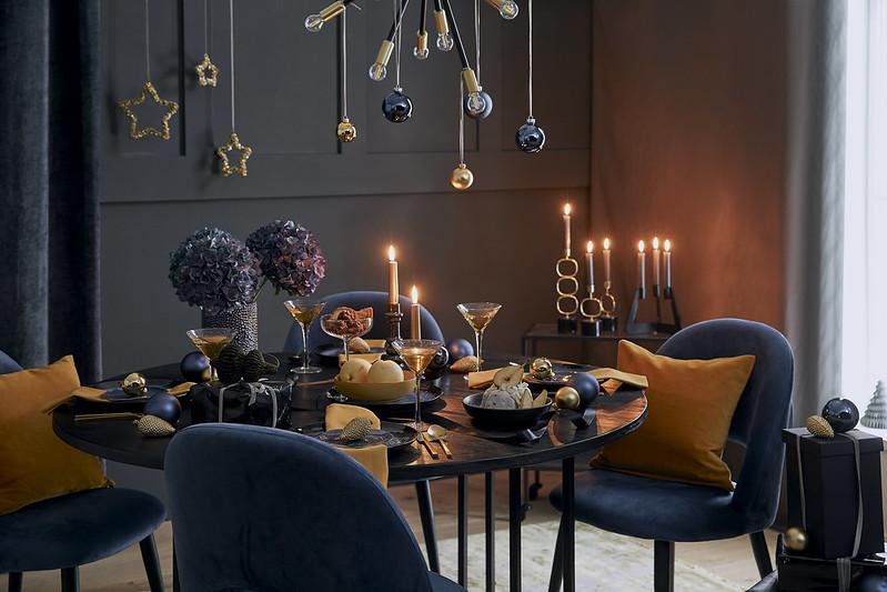 Świąteczna dekoracja w stylu Starry Night