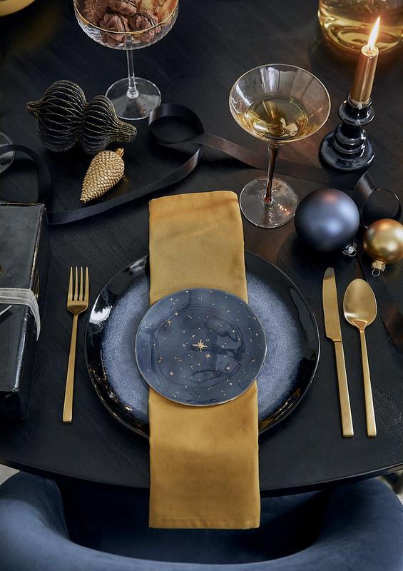 Nakrycie stołu w stylu Starry Night