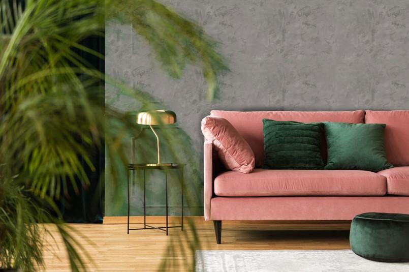 MAGNAT_Style_Beton_stylowy salon z miedzianymi dodatkami