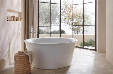 Designerska łazienka zaprojektowana przez znanego projektanta Philippe Starcka